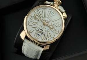 日本製クオーツ ガガミラノ腕時計  男性用腕時計 サファイヤクリスタル風防 ステンレス