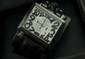 5針 クロノグラフ/日付表示/夜光効果 ガガミラノ腕時計 日本製クオーツ   男性用腕時計