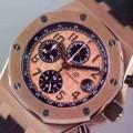 抜群の雰囲気が作れる! 2016 AUDEMARS PIGUET オーデマ ピゲ 3126ムーブメント 6針クロノグラフ 日付表示 男性用腕時計
