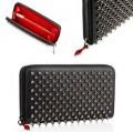 落ち着いた雰囲気のお洒落なChristian Louboutin クリスチャンルブタン黒い男女兼用の長財布.
