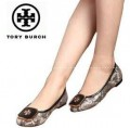 美脚効果が良いトリーバーチ、Tory Burchの素敵な女性ローヒールパンプス靴.