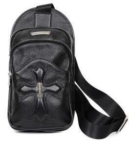 品質保証新作のクロムハーツ バッグ コピー、Chrome Heartsの人気セール新品の黒いメンズボディバッグ.