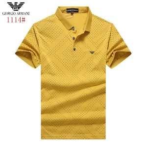 超人気美品◆ 2017春夏 アルマーニ ARMANI 3色可選 半袖Tシャツ