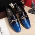 上品上質 2017年春夏 フェラガモ FERRAGAMO 2色可選 レザーシューズ靴 エナメル革