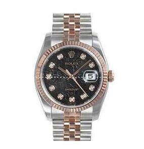 防水性に優れたROLEX ロレックス デイトジャスト レディース 腕時計 10Pダイヤ  シャンパンゴールド文字盤 69173G  デイト機能 腕時計