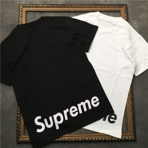 HOT人気SUPREMEシュプリームtシャツコピープリントロゴ付きメンズクルーネック半袖ブラック、ホワイト