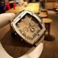 高品質を演出するHUBLOTウブロコピービジネス用メンズ腕時計ホワイト本革ラバー男性ウォッチ