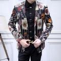 大胆なスリット上品DOLCE & GABBANAドルチェ & ガッバーナ偽物の冬季新作品メンズビジネス用スーツ