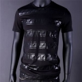 激安大特価新作高品質男性魅力コットン100%tシャツ色あせないブラックホワイトロックFENDIフェンディ コピー
