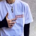Supreme 19SS Mesh Stripe Pocket Tee Box logo 爆発的な人気 Tシャツ/半袖 2色可選着やすい色味