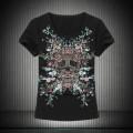 個性的なデザ 2015 春夏 アレキサンダー マックイーン 細身 レディース 半袖 Tシャツ 2色可選