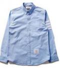 大人のおしゃれに偽物ブランド 2015春夏 THOM BROWNE トムブラウン 長袖シャツ 2色可選