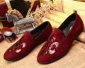 クロムハーツ 靴べら 十字架図案の赤いシューズ 人気上昇夏 布Chrome Hearts ローヒールレディースパンプス.
