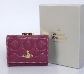 VIVIENNE WESTWOOD ヴィヴィアン ウエストウッド 財布 レッド 激安大特価新品のレディース2折りウォレット.