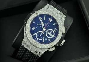 ウブロビッグバンエボリューションスチールダイヤモンドメンズ腕時計自動巻き ステンレス日付表示 42MMラバー