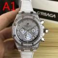 大胆なスリット上品 男性用腕時計 サファイヤクリスタル風防 オーデマ ピゲ 4色可選  2018新品