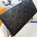 爆買い品質保証ブランドコピーかっこいいブラック長財布薄い作り便利表面凹凸上質感高級感溢れる頑丈ヴィトン 財布 偽物