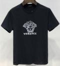 爆買い最新作オシャレTシャツ半袖ジムトレーニングブラックホワイトメンズVERSACEヴェルサーチ スーパー コピー